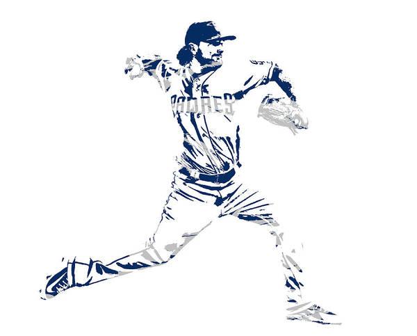 Wall Art - Mixed Media - Kirby Yates San Diego Padres Pixel Art 1 by Joe Hamilton