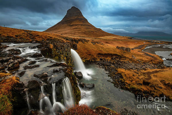 Wall Art - Photograph - Kirkjufell Falls by Jamie Pham