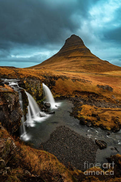 Wall Art - Photograph - Kirkjufell Storm by Jamie Pham