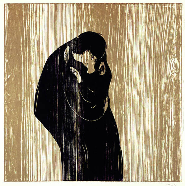 Norway Painting - Kiss - Digital Remastered Edition by Edvard Munch