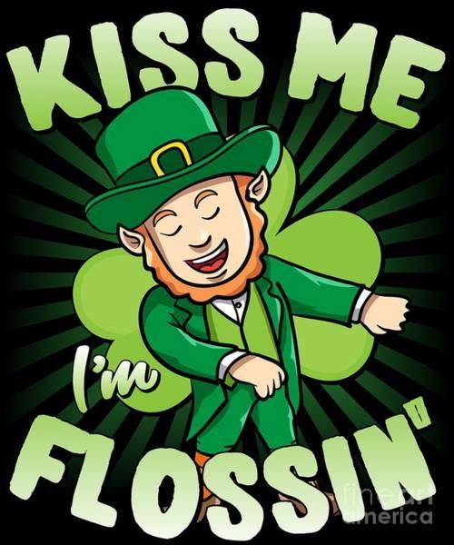 Digital Art - Kiss Me Im Flossin Floss St Patricks Day by Flippin Sweet Gear