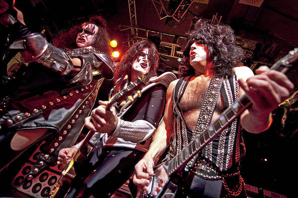 Kiss Perform At The O2 Islington Art Print by Neil Lupin
