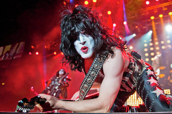 Live Bands Photograph - Kiss Perform At Wembley Arena In London by Neil Lupin