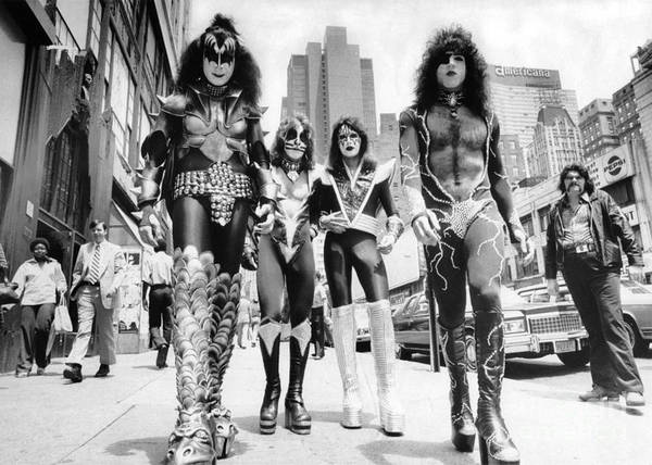 Wall Art - Photograph - Kiss Rock Group by New York Daily News Archive