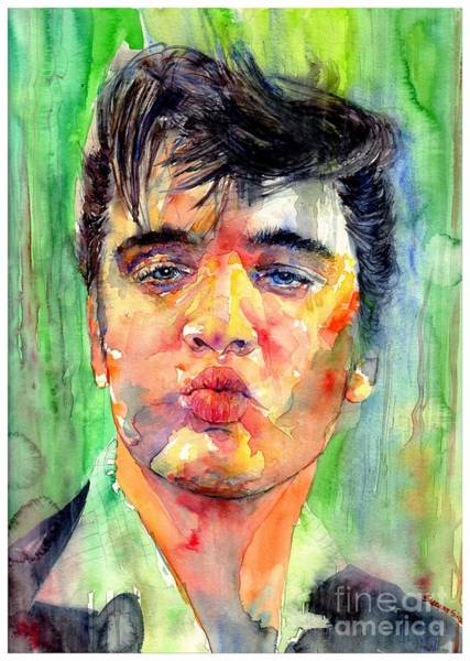 Wall Art - Painting - Kisses From Elvis by Suzann Sines