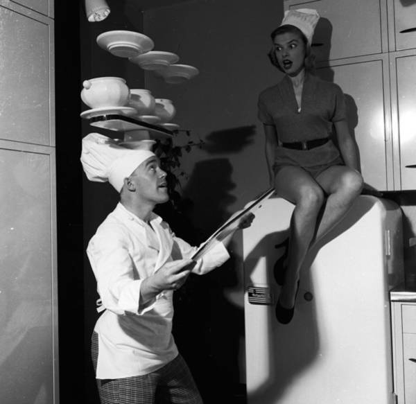 Adult Male Photograph - Kitchen Juggling by Harry Kerr