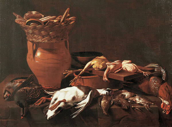 Food Groups Painting - Kitchen Still Life. Game Partridges by Mondadori Portfolio