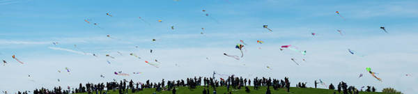 Wall Art - Photograph - Kite Fest Panorama by Steve Gadomski