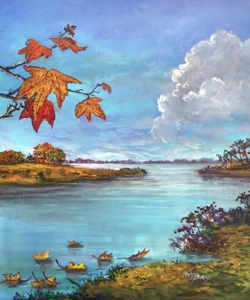 Kites, Clouds And Sailboats Art Print