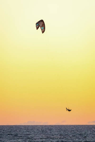 Photograph - Kitesurfing At Sunset by Pierre Leclerc Photography