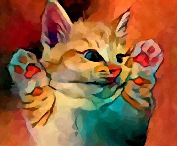 Wall Art - Painting - Kitten 2 by Chris Butler