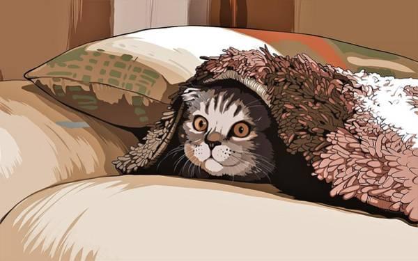 Curiosity Painting - Kitten by ArtMarketJapan