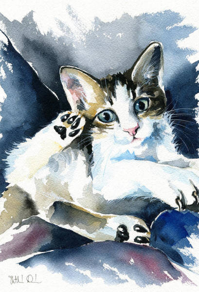 Painting - Kitten by Dora Hathazi Mendes