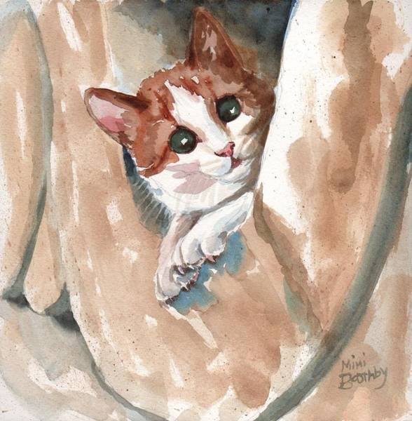 Painting - Kitten by Mimi Boothby