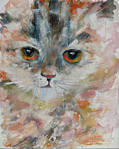 Painting - Kitten Portrait by Ginette Callaway