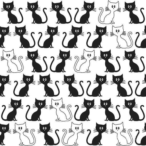 Wall Art - Digital Art - Kittens Pattern by Gaspar Avila