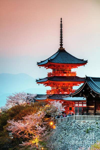 Wall Art - Photograph - Kiyomizu-dera Buddhist Temple, Kyoto, Japan by Matteo Colombo