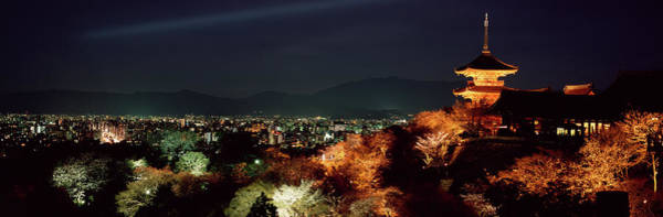 Wall Art - Photograph - Kiyomizudera Temple With Skyline In by Jerry Driendl
