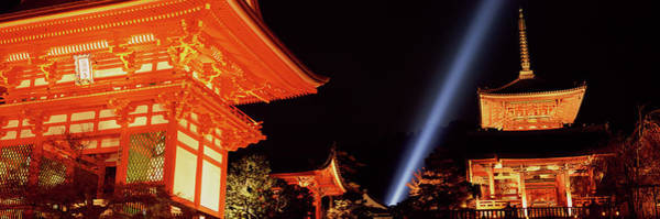 Wall Art - Photograph - Kiyomizudera Temple With Spot Light At by Jerry Driendl