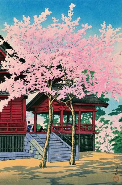 Wall Art - Painting - Kiyomizudo - Top Quality Image Edition by Kawase Hasui