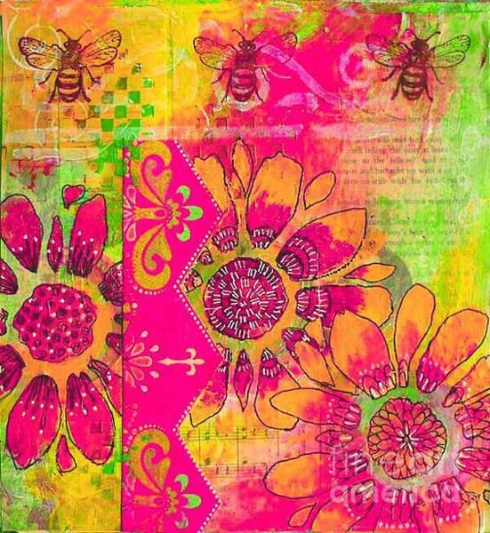 Painting - Kjp_environment_bee_pink_green by Kasey Jones