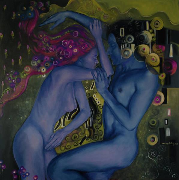 Wall Art - Painting - Klimtian Romance II by Dorina Costras