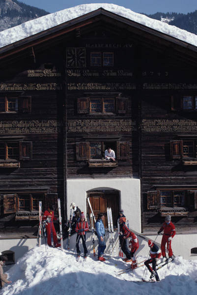 Skiing Photograph - Klosters Florin House by Slim Aarons