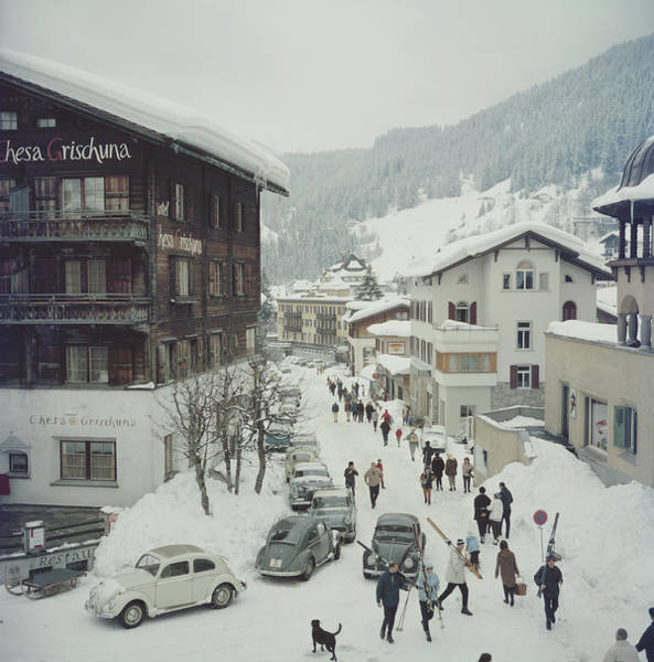 Skiing Photograph - Klosters by Slim Aarons