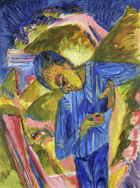 Wall Art - Painting - Knave With Sweeties - Digital Remastered Edition by Ernst Ludwig Kirchner