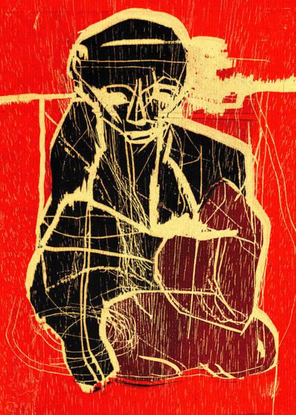 Relief - Kneeling Man by Artist Dot