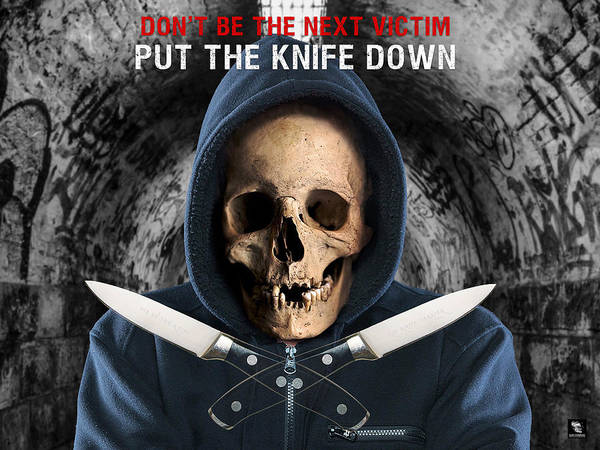 Digital Art - Knife Crime Part 2 - The Next Victim by ISAW Company