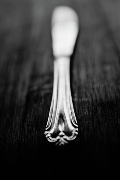 Silverware Photograph - Knife by Mmeemil