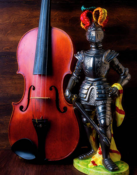 Photograph - Knight And Violin by Garry Gay