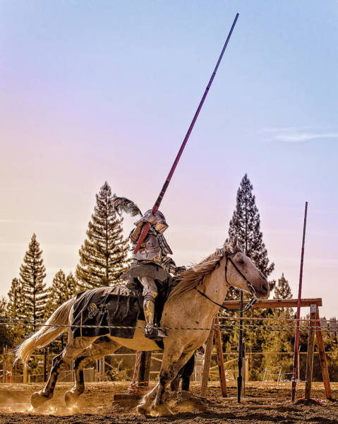 Photograph - Knight Charging 02 by Jim Thompson