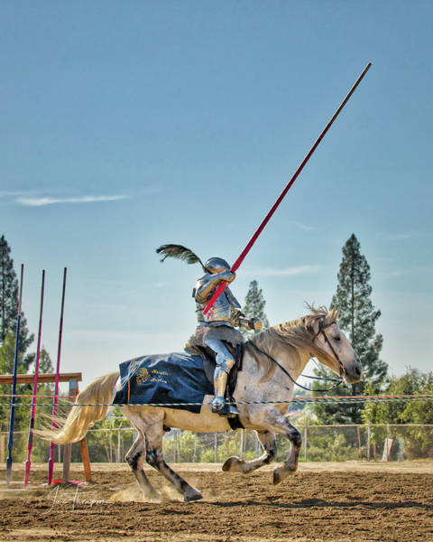 Photograph - Knight Charging 01 by Jim Thompson