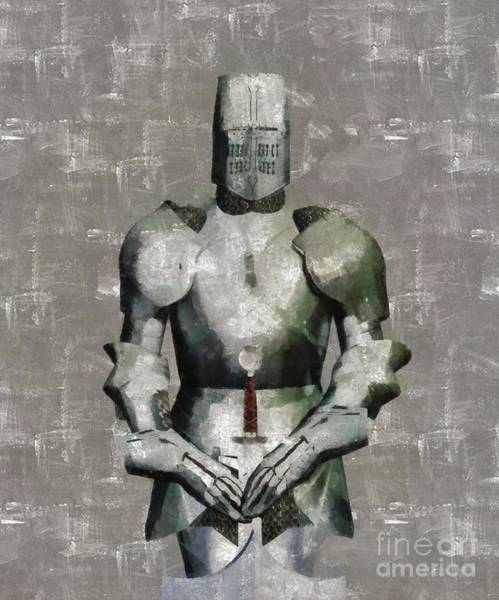 Wall Art - Painting - Knight Guardian by Sarah Kirk