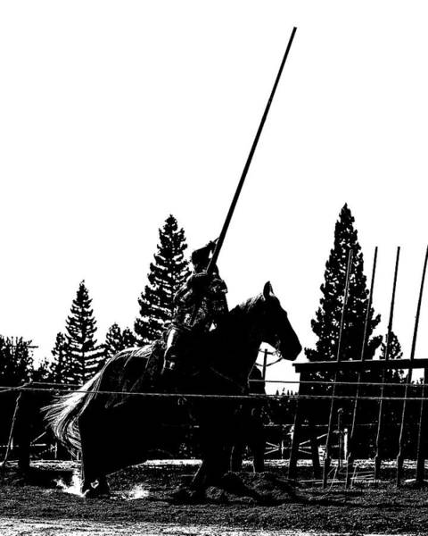 Photograph - Knight Silhouette 02 by Jim Thompson