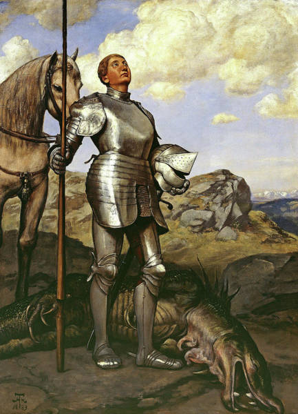 Wall Art - Painting - Knight St. Georg by Hans Thoma