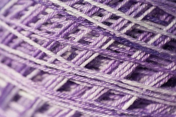 Photograph - Knitting Hobbies Series. Pale Purple Yarn 1 by Jenny Rainbow