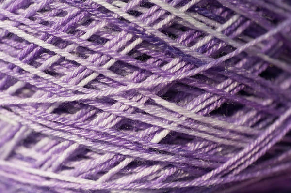 Photograph - Knitting Hobbies Series. Pale Purple Yarn by Jenny Rainbow