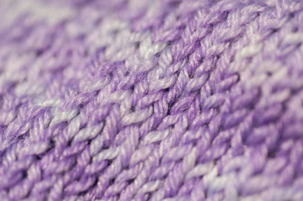 Photograph - Knitting Hobbies Series. Purple Pastel Knit Abstract 3 by Jenny Rainbow
