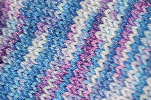 Photograph - Knitting Hobbies Series. Purple Pastel Knit Abstract by Jenny Rainbow