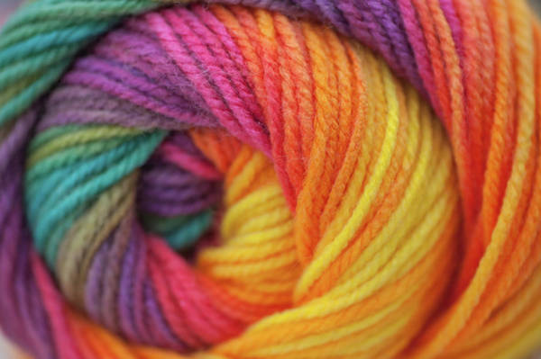 Photograph - Knitting Hobbies Series. Rainbow Yarn Abstract 1 by Jenny Rainbow