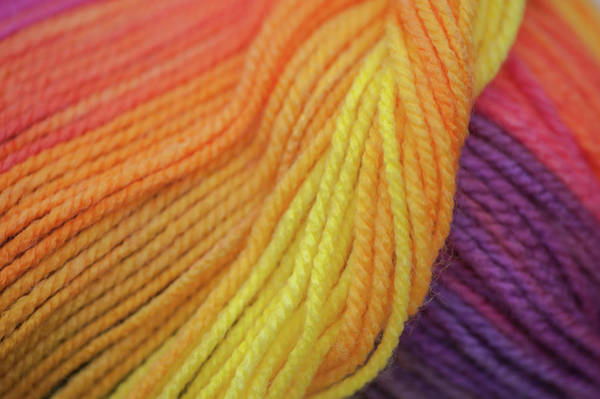 Photograph - Knitting Hobbies Series. Rainbow Yarn Abstract 3 by Jenny Rainbow