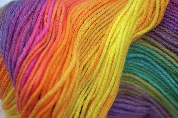 Photograph - Knitting Hobbies Series. Rainbow Yarn Abstract by Jenny Rainbow