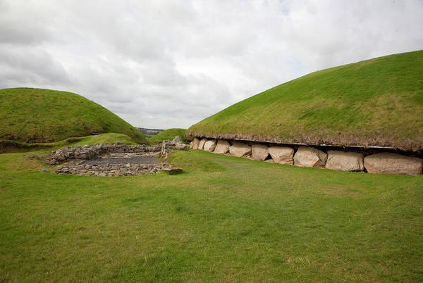Prehistoric Era Wall Art - Photograph - Knowth Passage Graves by Les Stocker
