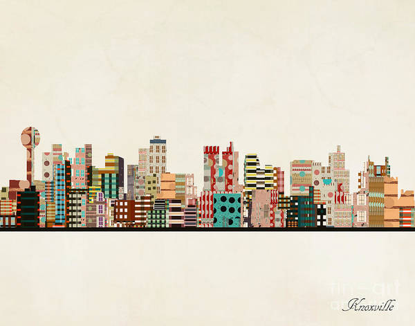 Wall Art - Painting - Knoxville Skyline by Bri Buckley