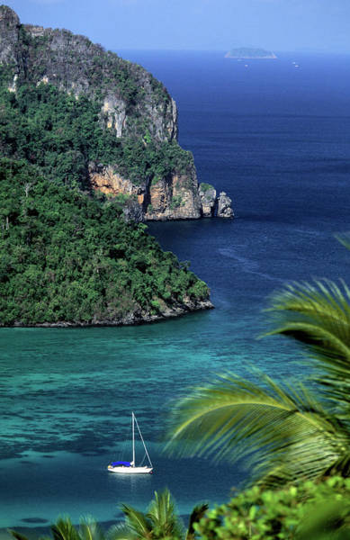 Ko Phi Phi Don, Yacht At Anchor Art Print