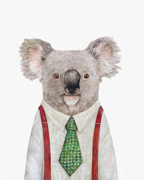 Animals In Clothes Wall Art - Painting - Koala by Animal Crew