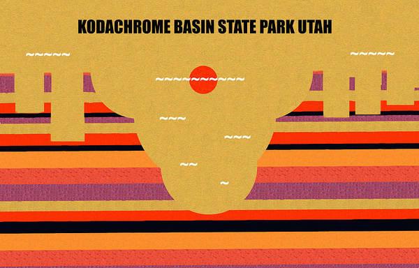 Wall Art - Digital Art - Kodachrome Basin State Park Utah by David Lee Thompson